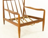 Adrian Pearsall for Craft Associates Mid Century Spindle Back Lounge Chair - mcm