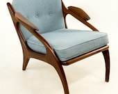Adrian Pearsall for Craft Associates 2249-C Walnut Lounge Chair
