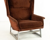 Adrian Pearsall Mid Century Brown Lounge Chair - mcm