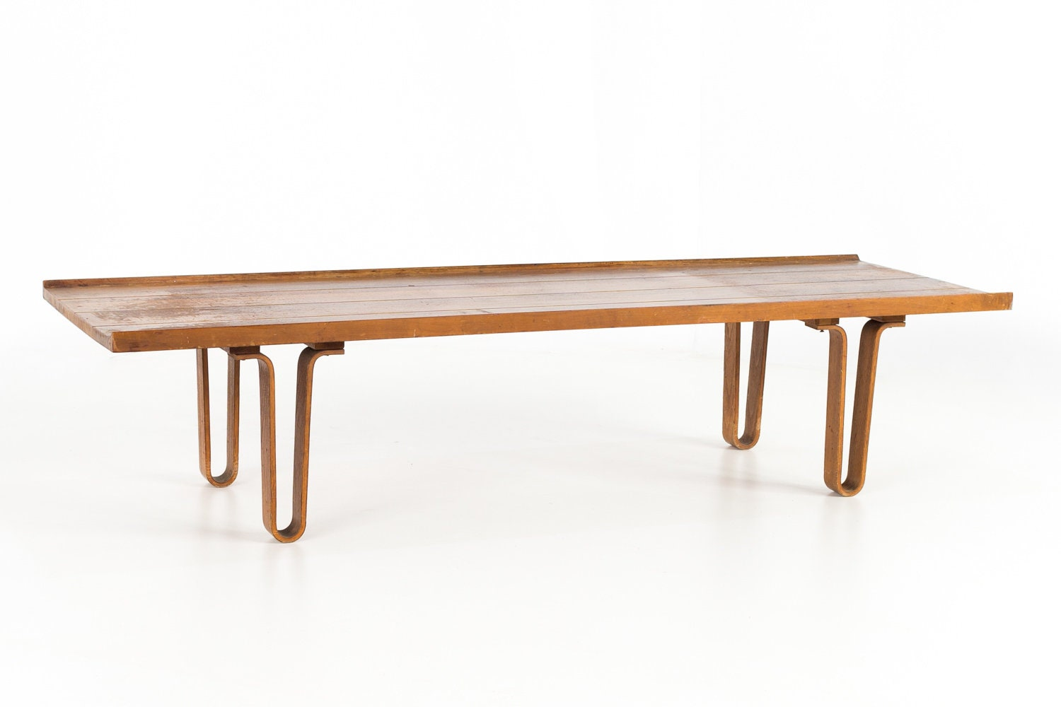 Edward Wormley For Dunbar Walnut Mid Century Coffee Table Bench Mcm