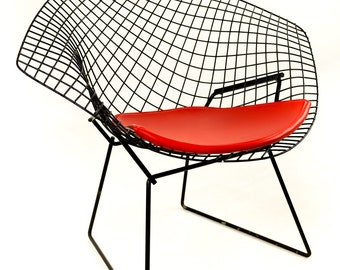 Harry Bertoia For Knoll Black Diamond Chair With Pad
