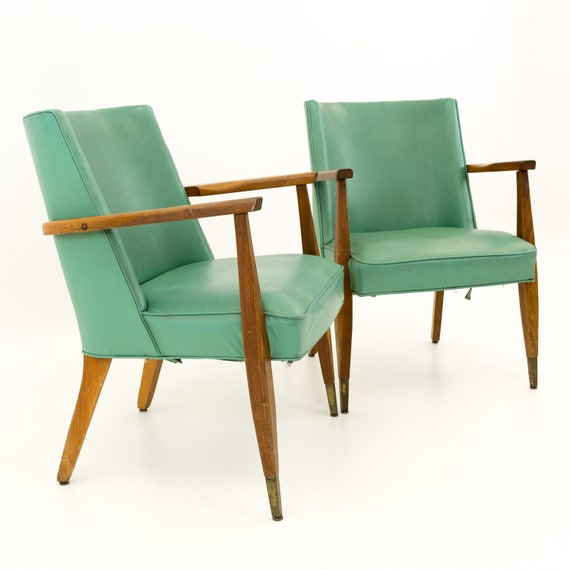 Surprising Kroehler Mid Century Modern Occasional Lounge Chairs Pair Mcm Machost Co Dining Chair Design Ideas Machostcouk