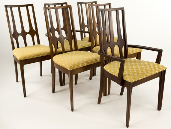 Broyhill Brasilia Mid Century Dining Chairs   Set Of 6   Mcm