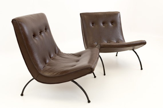 Pleasing Milo Baughman Mid Century Modern Scoop Lounge Chairs Mcm Gmtry Best Dining Table And Chair Ideas Images Gmtryco