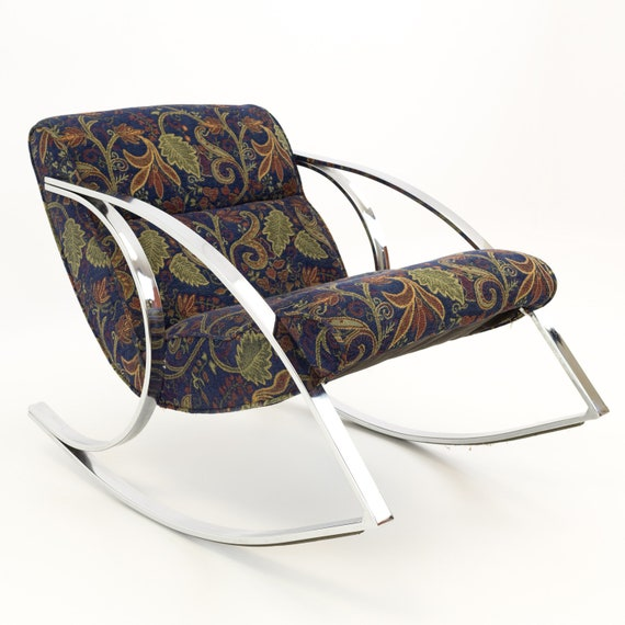 Fabulous Milo Baughman Style Chrome Scoop Mid Century Modern Rocking Chair Mcm Alphanode Cool Chair Designs And Ideas Alphanodeonline