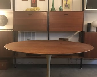 "Vintage Eero Saarinen 54"" Walnut Tulip Dining Table for Knoll"