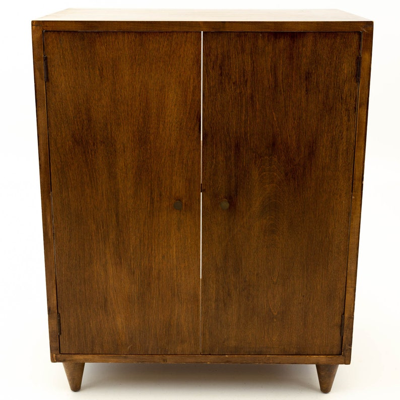 mcm Paul McCobb Style Small Mid Century Credenza Media Cabinet Console