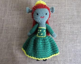 Crochet Fiona Inspired Toy shrek princess fiona dreamworks amigurumi