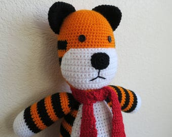 Crochet Hobbes-Inspired Toy tiger amigurumi