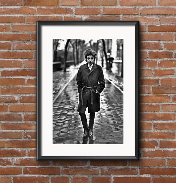 I Took Stunning Photo Of Dylan At >> Bob Dylan Canvas Poster Fine Art Black And White Print Wall Etsy