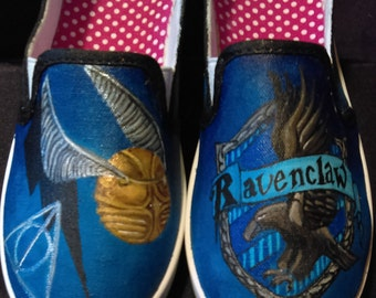 Hand Painted Ravenclaw Shoes