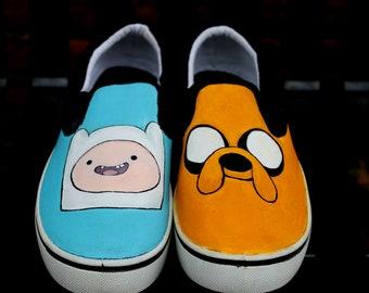 0981cc7f7e Size 10 Mens Handpainted Adventure Time shoes
