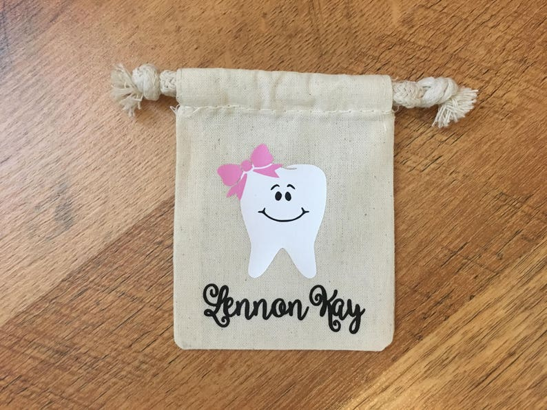 Baby/'s First Gifts for Kids Tooth Fairy Bag Tooth Fairy Pouch Personalized Gift Tooth Pouch Tooth Fairy Sack Personalized