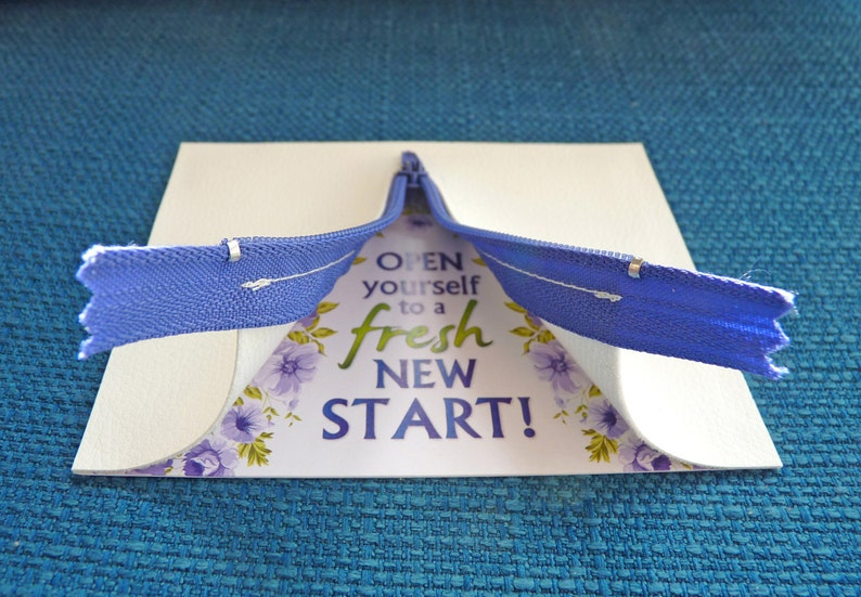 Fresh new start Special greeting card New beginning LGBT Gay Congrats Divorce Fine art blank card Interactive unique card Coming out