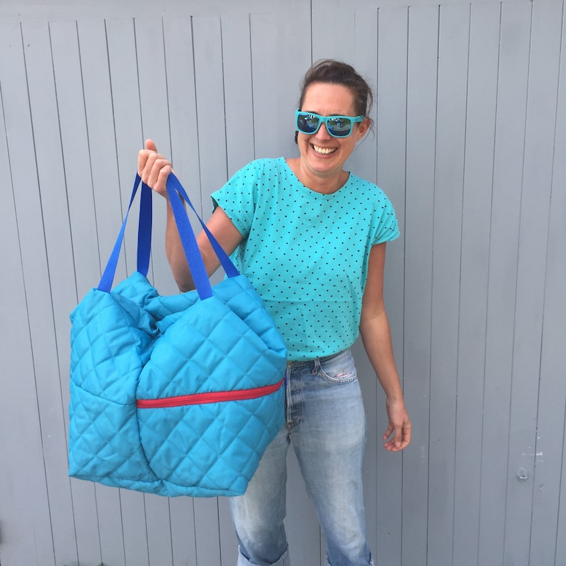 Big puffy bowler backpack turquoise image 0