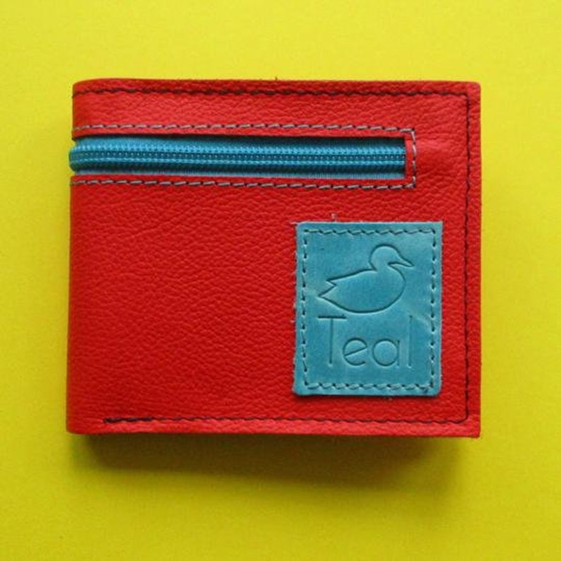 Leather wallet with zip image 0
