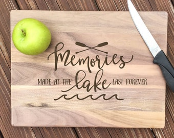 Lake House Decor, Personalized Cutting Board, Lake House Sign, Lake Life, Lake Signs, Lake Decor, Lake House, Cutting Board, Engraved, Gifts