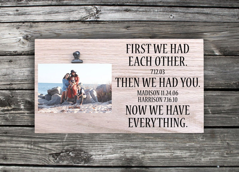 First We Had Each Other Sign Family Sign Picture Clip