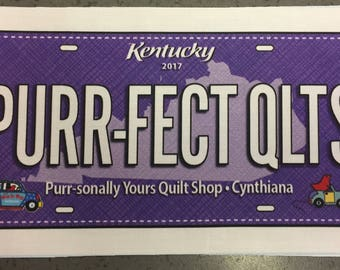 Purple Row by Row 2017 License Plate Cynthiana, Kentucky