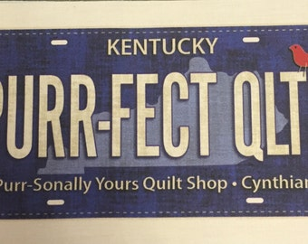 Row by Row 2016 License Plate Cynthiana, Kentucky