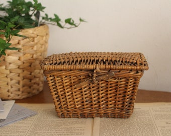Miniature Chandronnait LARGE Herb Basket Wooden Handle DOLLHOUSE 1:12