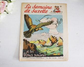 Vintage French Magazine - Children's Magazine - La Semaine de Suzette - 20th September 1951