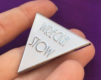 Wrecka Stow Chrome Enamel Pin Badge - Prince Fan Tribute - Under The Cherry Moon