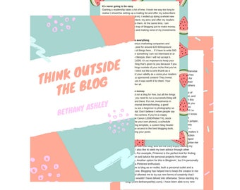 Think Outside the Blog eBook