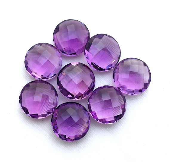Amethyst Faceted Round Briolette 10MM, 12MM, Medium-Dark Colour/ Brazil Amethyst/ For fine Jewelry Collection, Price By Per Piece.