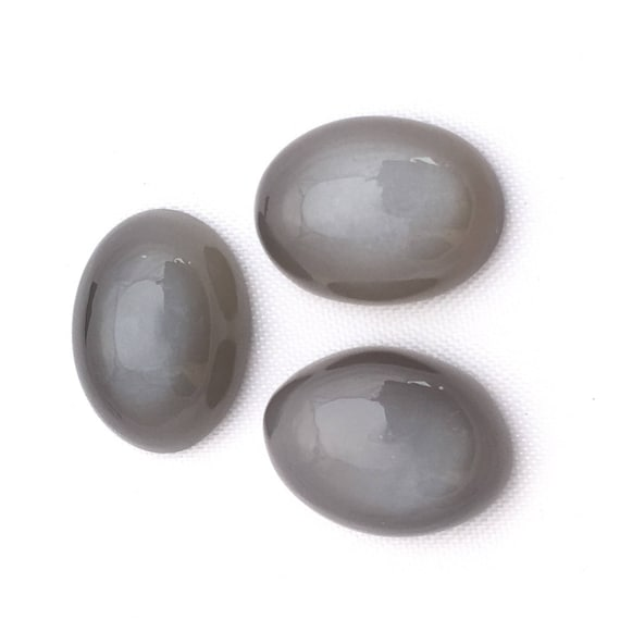 5 Pieces Natural White Moonstone Cabochons Lot 11x16 to 13x17mm Oval Shape Natural Moonstone Gemstone Loose Stones Smooth Cabs 4612