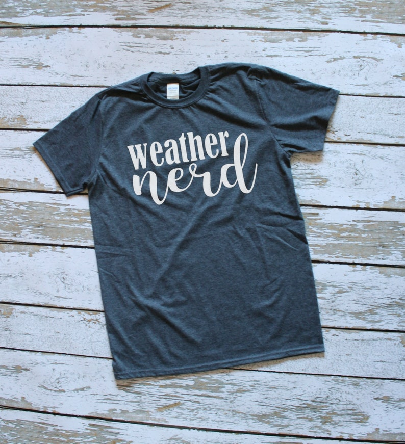 ba7922754 Weather Nerd T-Shirt Short Sleeve T-Shirt Meterology Gift | Etsy