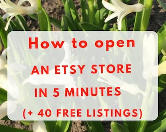 Sell on Etsy. How to start an Etsy shop, free 40 listings and a guide
