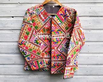 *SALE Gringo Women/'s Black Patchwork Lined Coat Jacket Hippy Size 10 12 14 BOHO