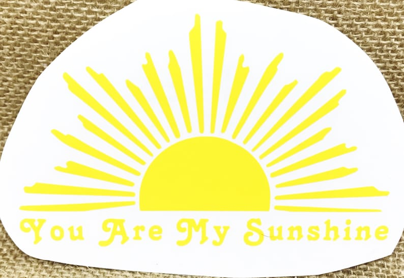 Family Car DECALS-Clear Sticker-SUNSHINE yellow