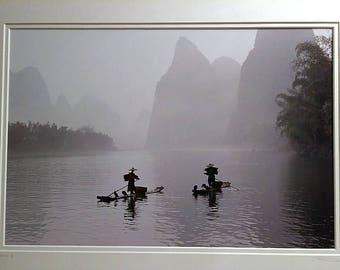 "John Deng Original B&W Fine Art Photography - ""Dusk"" - 20x26 - COA"