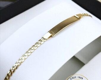 10k Figaro Bracelet Etsy