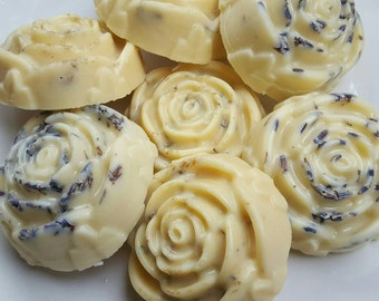 Lotion Bars | Lavender and Chamomile Solid Lotion Bars | Bouquet of 7 Lotion Bars | (Local Pick Up Only)