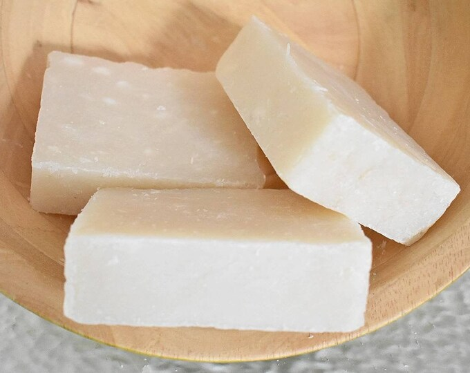 Coconut Milk Soap Bar, Rustic Handcrafted Soap
