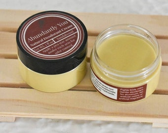 Natural Deodorant, Sandalwood Essential Oil, Aluminum Free