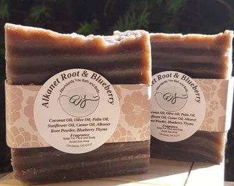 Alkanet Root Artisan Soap Bar   Fragranced or Fragrance Free
