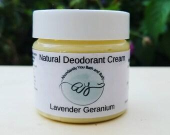 Natural Deodorant Cream | Lavender Rose Geranium