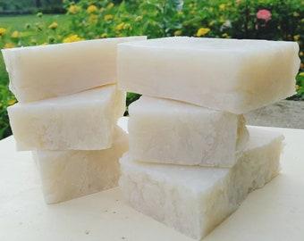 Coconut Soap Bar with Kaolin Clay | Rustic Organic Soap Bar