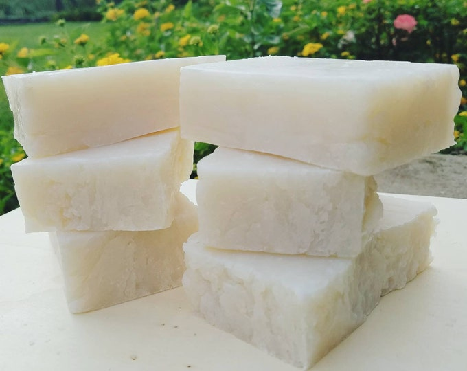 Featured listing image: Coconut Oil Soap Bar with Kaolin Clay | Rustic Organic Soap Bar