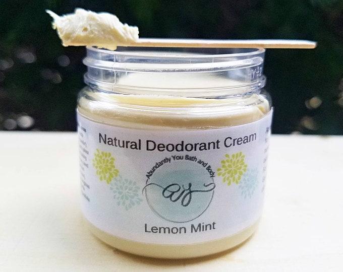 Natural Deodorant Cream | 2 ounce