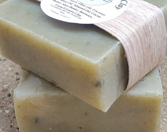 Aloe Vera and French Green Clay Soap with Lavender and Rosemary Essential Oil