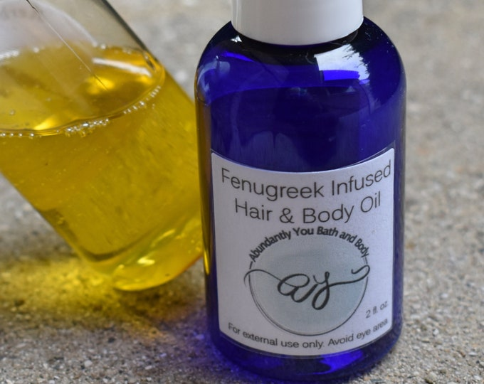 Fenugreek Hair and Body Oil | Herbal Infused Oil for Hair and Skin