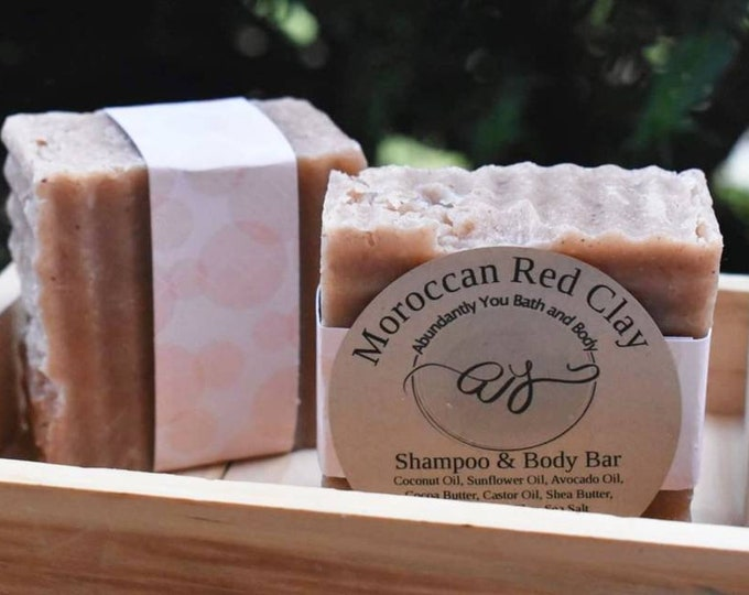 Vegan Moroccan Red Clay Shampoo Bar