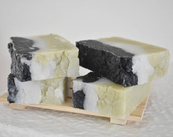 Vegan Clay Soap Soap Bar, Charcoal, Kaolin, Green Clay Soap, Herbal Soap
