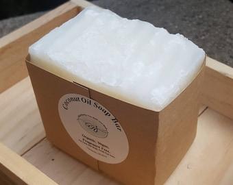 Large Vegan Organic Coconut Oil Soap | Organic Soap | 7.5 oz | Handmade Soap | Vegan Soap | Big Soap | Homemade Soap | Chemical Free