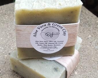 Aloe Vera and French Clay Soap | Vegan Natural Soap